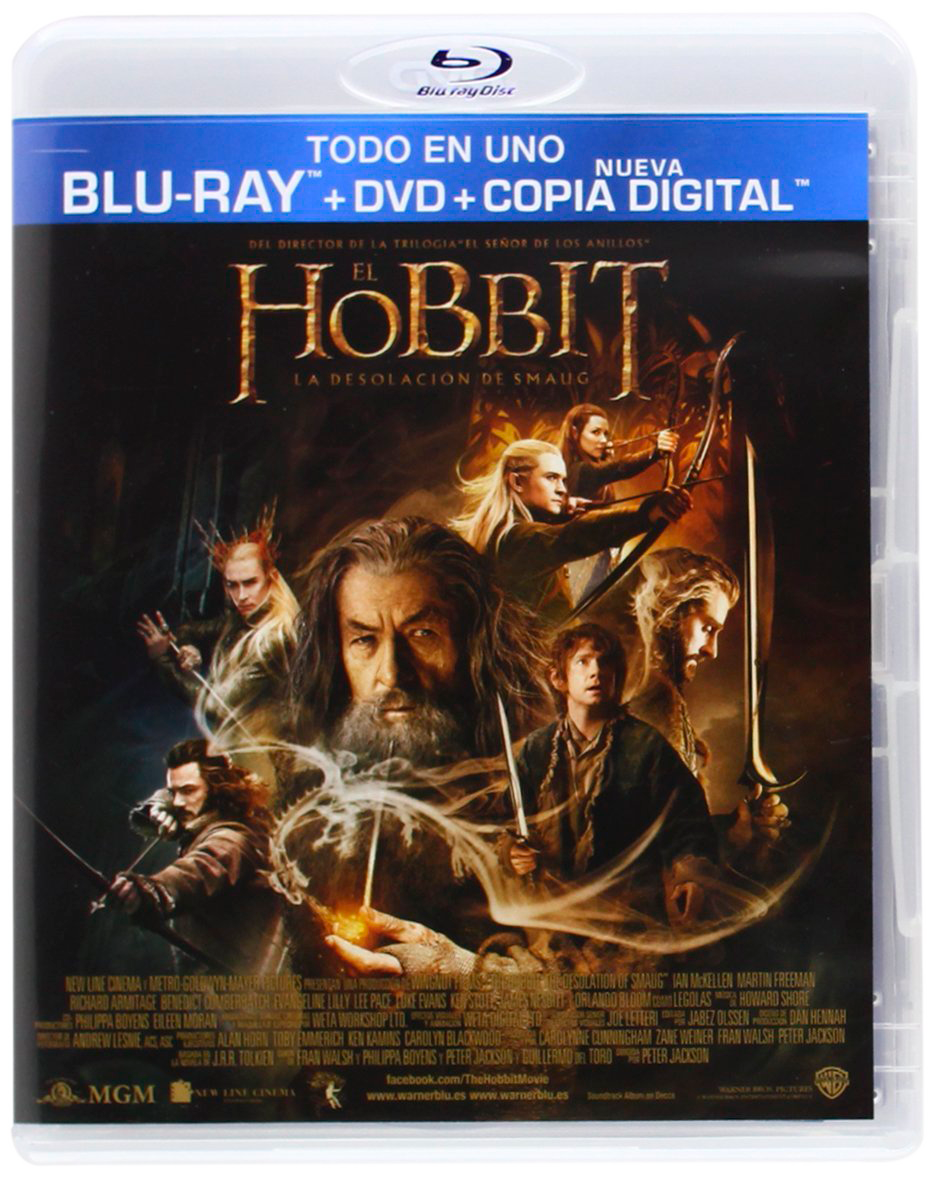 El Hobbit - La Desolación de Smaug, en BluRay